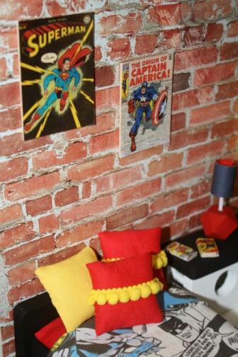Awesome superhero themed wall art